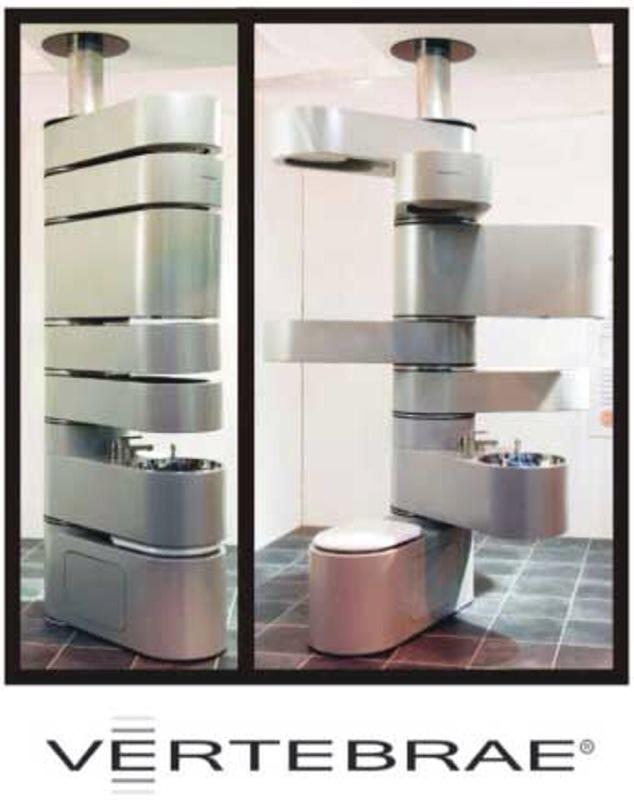 t r e n d s p o t vertebrae une colonne vert brale pour les micro salles de bain par. Black Bedroom Furniture Sets. Home Design Ideas