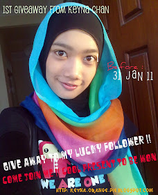 1st GiveAway From Keyna Chan