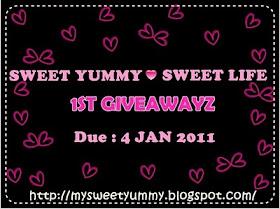 Sweet Yummy Sweet Life 1st Giveawayz