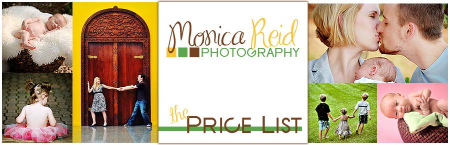 Monica Reid Photography Pricing