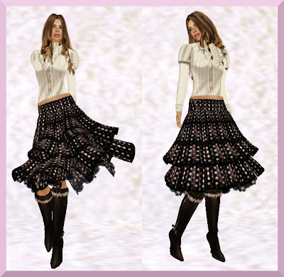 Fashion Skirts  Boots on Funky Fashion Finds   Tiered Brown Skirt