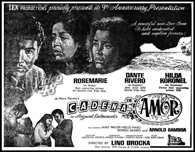 cadena de amor. quot;Cadena de Amorquot; (1971)- Stars