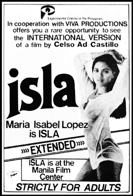 Left- Isla (1984)- Stars Maria Isabel Lopez/ Directed by Celso Ad