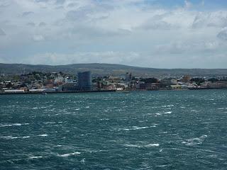 Zicht op Punta Arenas.