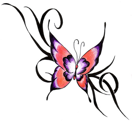 tribal tattoo butterfly. house Tribal utterfly tattoos,
