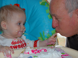 Oakley feeding Pawpaw some of her cake