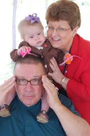 Oakley with Grandma Joanie and Grandpa Peter