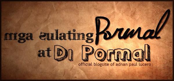 Mga Sulating Pormal at Di Pormal