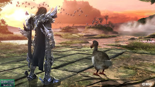sunset with a dodo bird; image from SoulCaliburUniverse.com