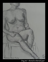 hour-long pose; shading in vine charcoal