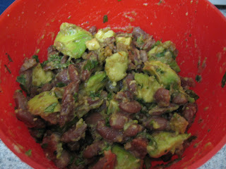 Avocado and bean dip, adapted from Moosewood Restaurant Low-Fat Favorites