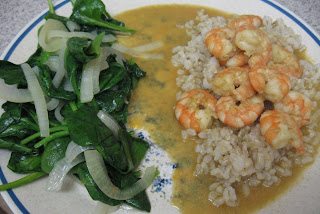 Thai green curry prawns, adapted from Simple Thai Cookery by Ken Hom