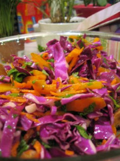 Rochel's Purple and Orange Cabbage Salad from Gluten-Free Bay