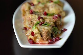 Lebanese Eggplant with Pomegranate Molasses (Batinian Bil Rumman)