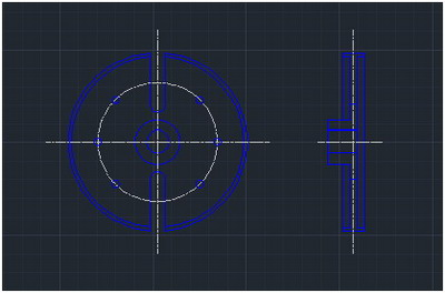 how to change grid dots to lines in autocad