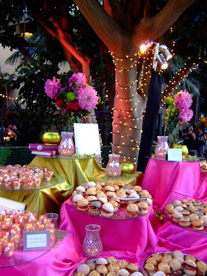 over the top with HOT pink and lime green which are HOT wedding colors