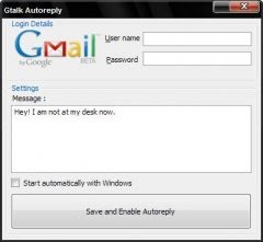 gtalk auto reply answering machine message