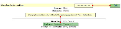 change preferred content of yahoo