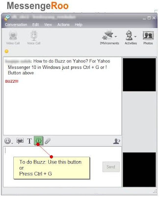 Yahoo Messenger Buzz Command