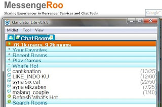 Chat Room List Mig33 on KEmulator