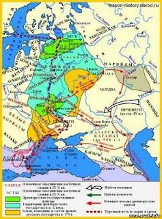 Карта русских земель
