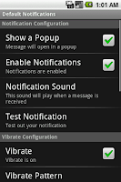 Screenshot - Notification Configuration