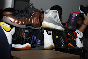 Coppers,Cool Greys 11's,Raptors 7's,Laney 5's,OG Bred 11's,Eggplants .