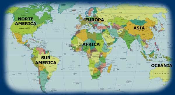 los continentes y sus caracteristicas: