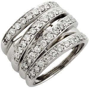 Gabriel and Co Four Row Diamond Ring 14134 front large Beautiful Wedding Ring