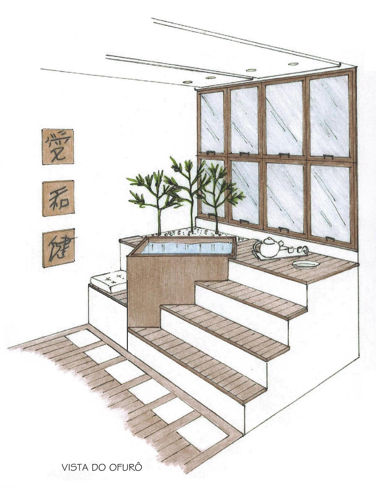 por Larissa Schirmanoff design de interiores: Banheiro Chinês #7B6450 1234x1600 Banheiro Chines