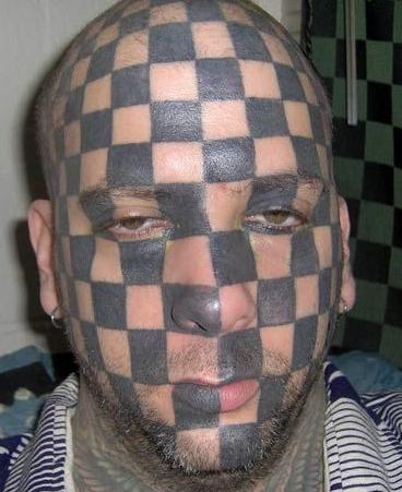 tattoo face. A face tattoo doesn#39;t read