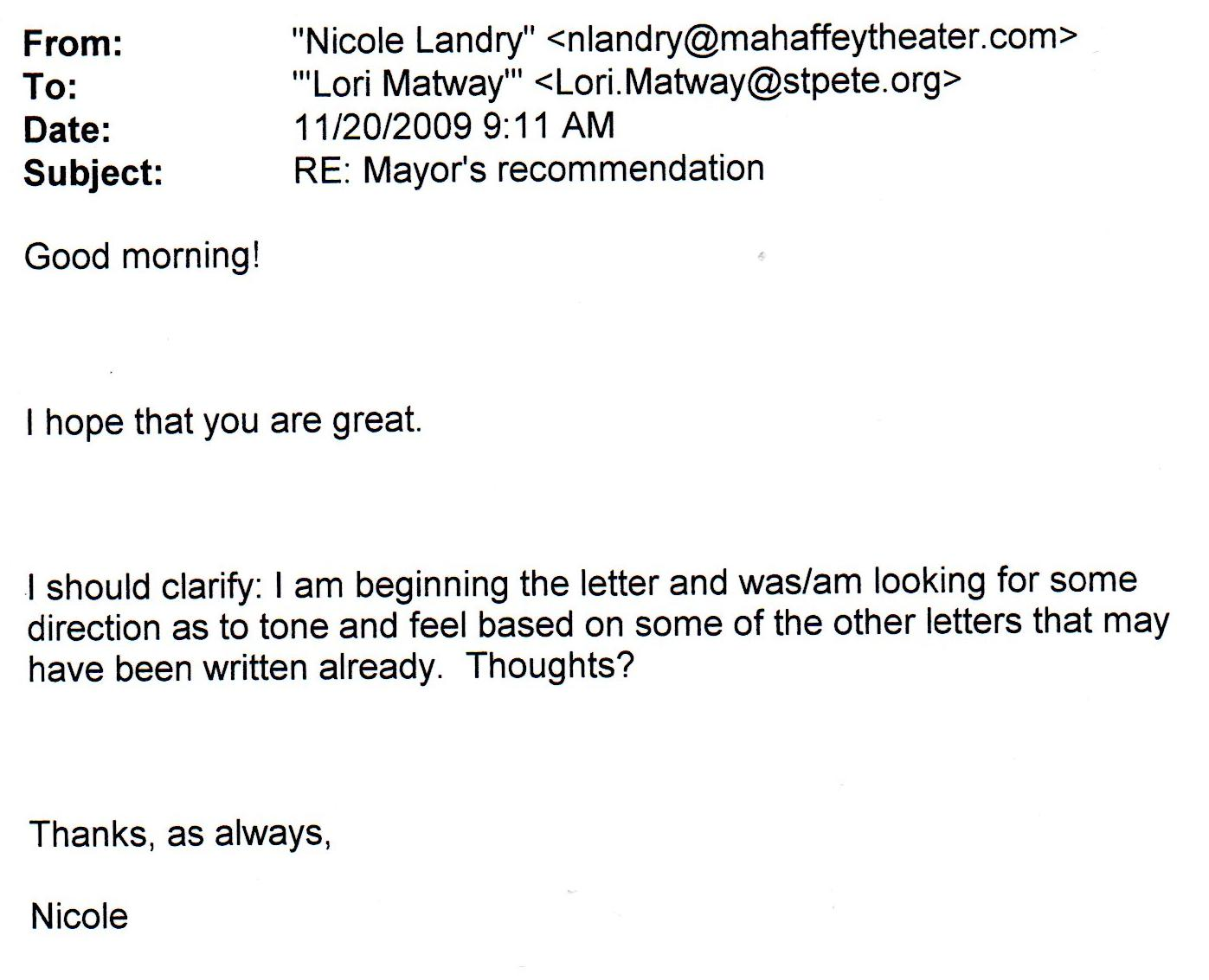 EMails Confirm City Hall Administrator Is Coordinating Letter