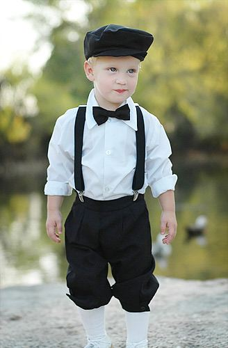 Whatever you choose, make sure the boys are comfortable, while still remaining faithful to the overall tone of your wedding. Also, encourage ring bearers to try out their clothes before the wedding so they won't pull at the neck or the crotch in an unseemly way on the big day.