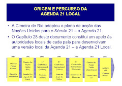 Percurso da Agenda 21 Local