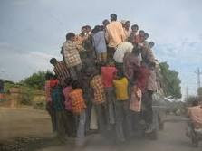 Picture of Crazy Indian People Travelling