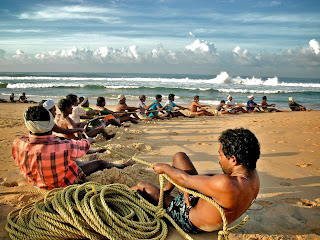 Excellent Photography Image of Fishermen at Poovar Beach in South India