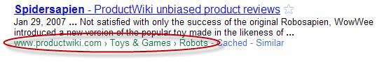 fil d'ariane google