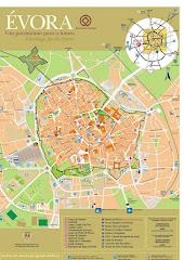 mapa de Évora