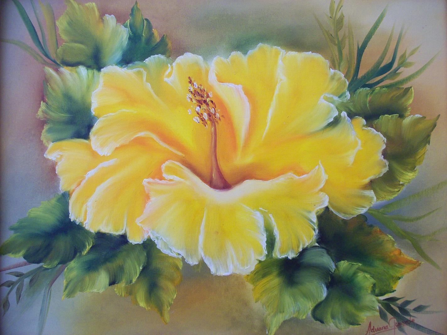 Pintura al oleo como pintar flores diy flowers painting - Floreros modernos ...