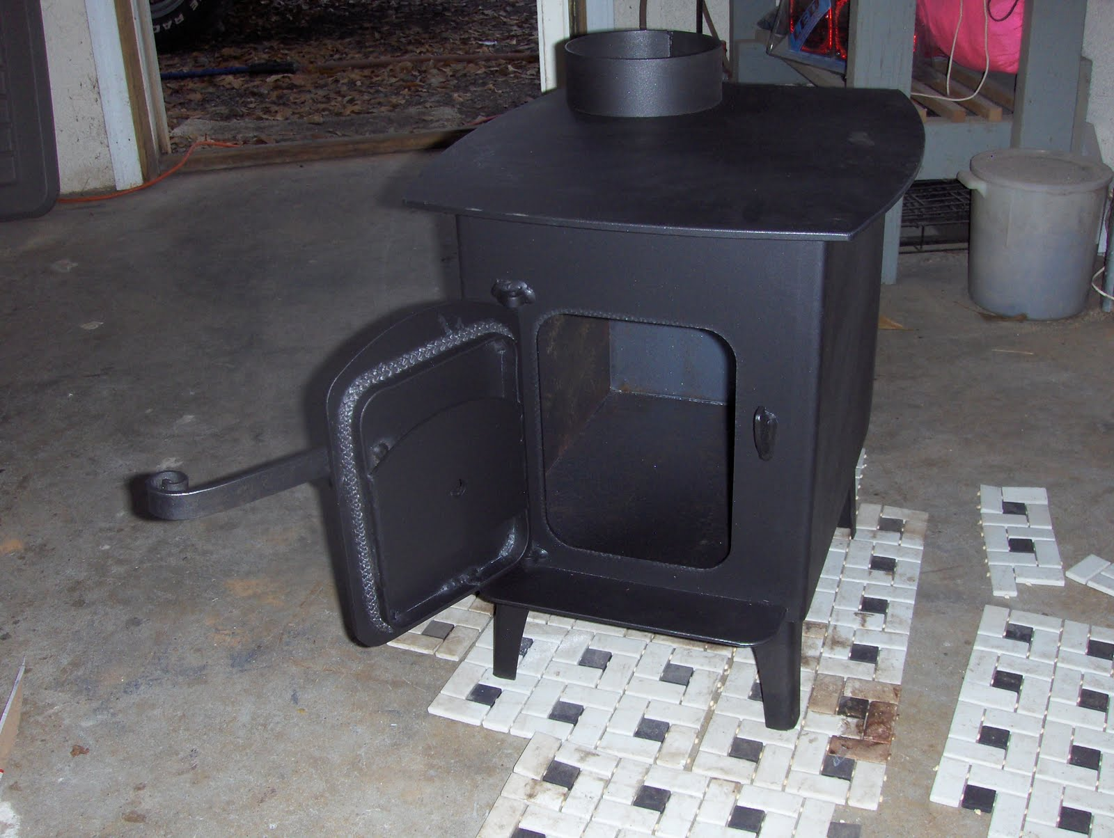 Homemade Wood Stove Car Interior Design