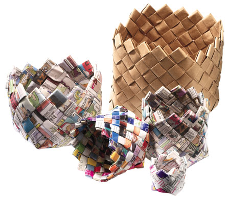 Craft Ideas  Waste on Wastepaper Basket  Craft Ideas From Canadian Living