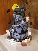 Halloween Topzy Turvy Cake