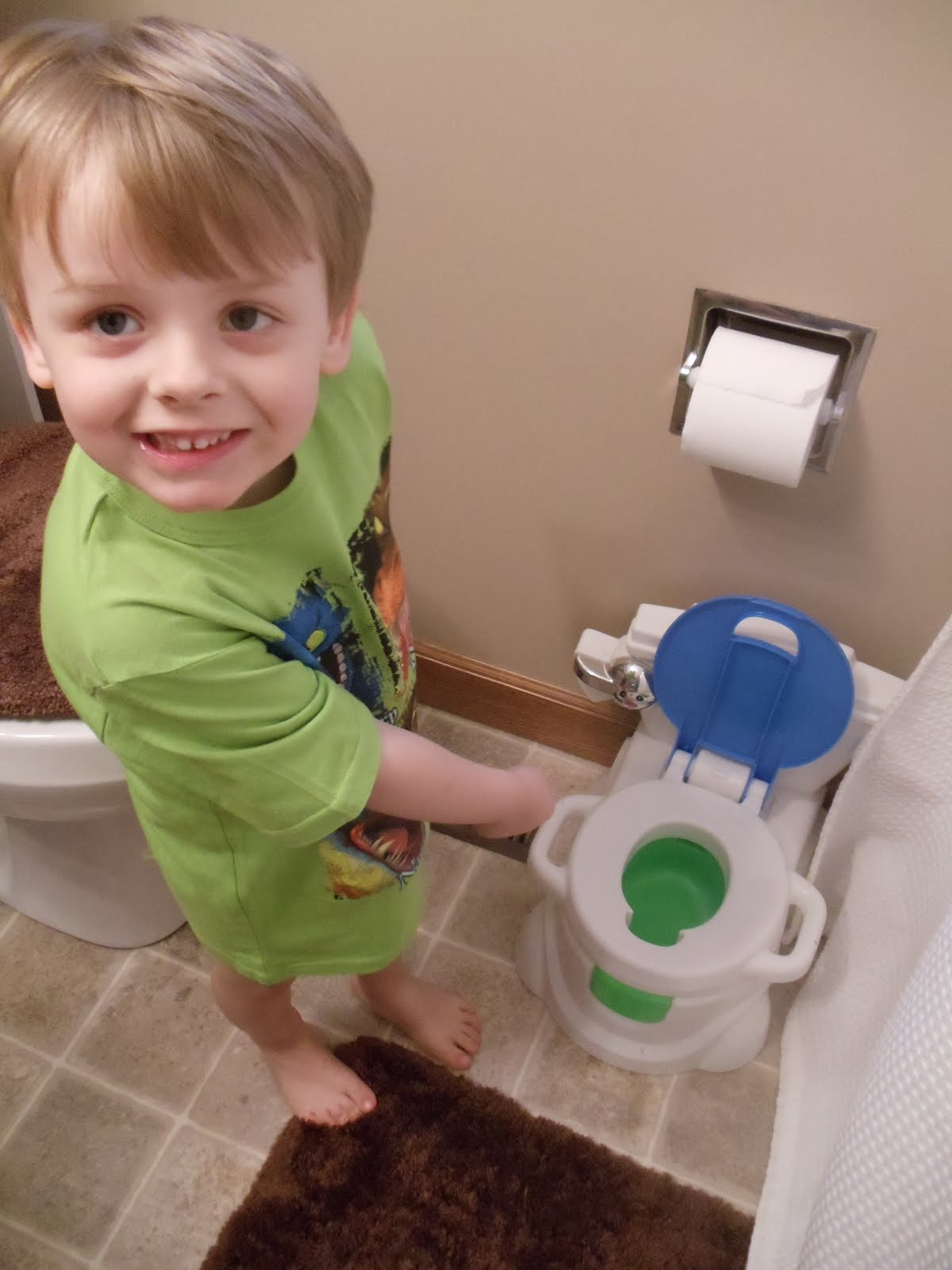 peeing in the potty