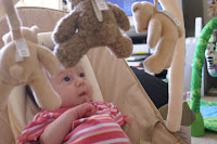Summer loving her new bouncy chair
