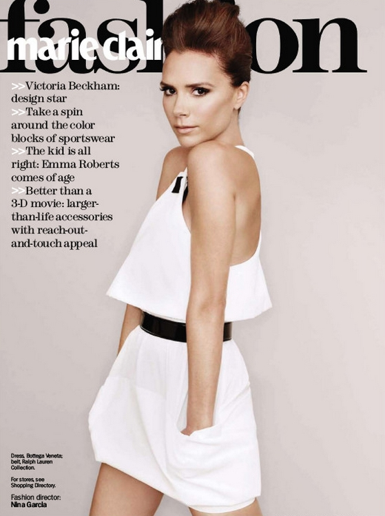 marie claire US November 2010 Cover - Victoria Beckham by Ruven Afanador