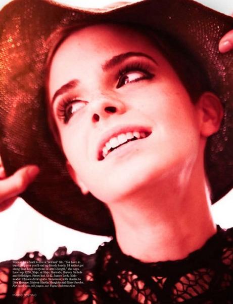 emma watson vogue 2010. Emma watson fashion spot