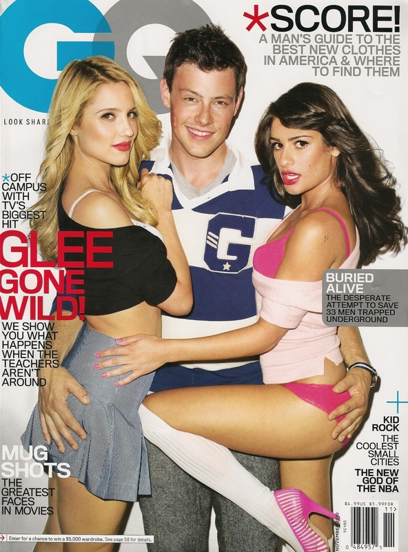 Still of Lea Michele, Cory Monteith and Dianna Agron in Glee