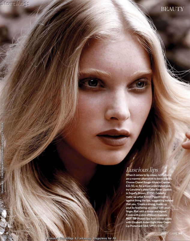 marie claire UK January 2011 - Elsa Hosk by Yu Tsai