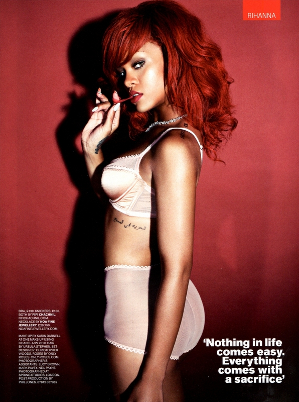 rihanna red hair 2011. Rihanna Red Hairstyle 2011