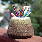 Felted Hook Vase